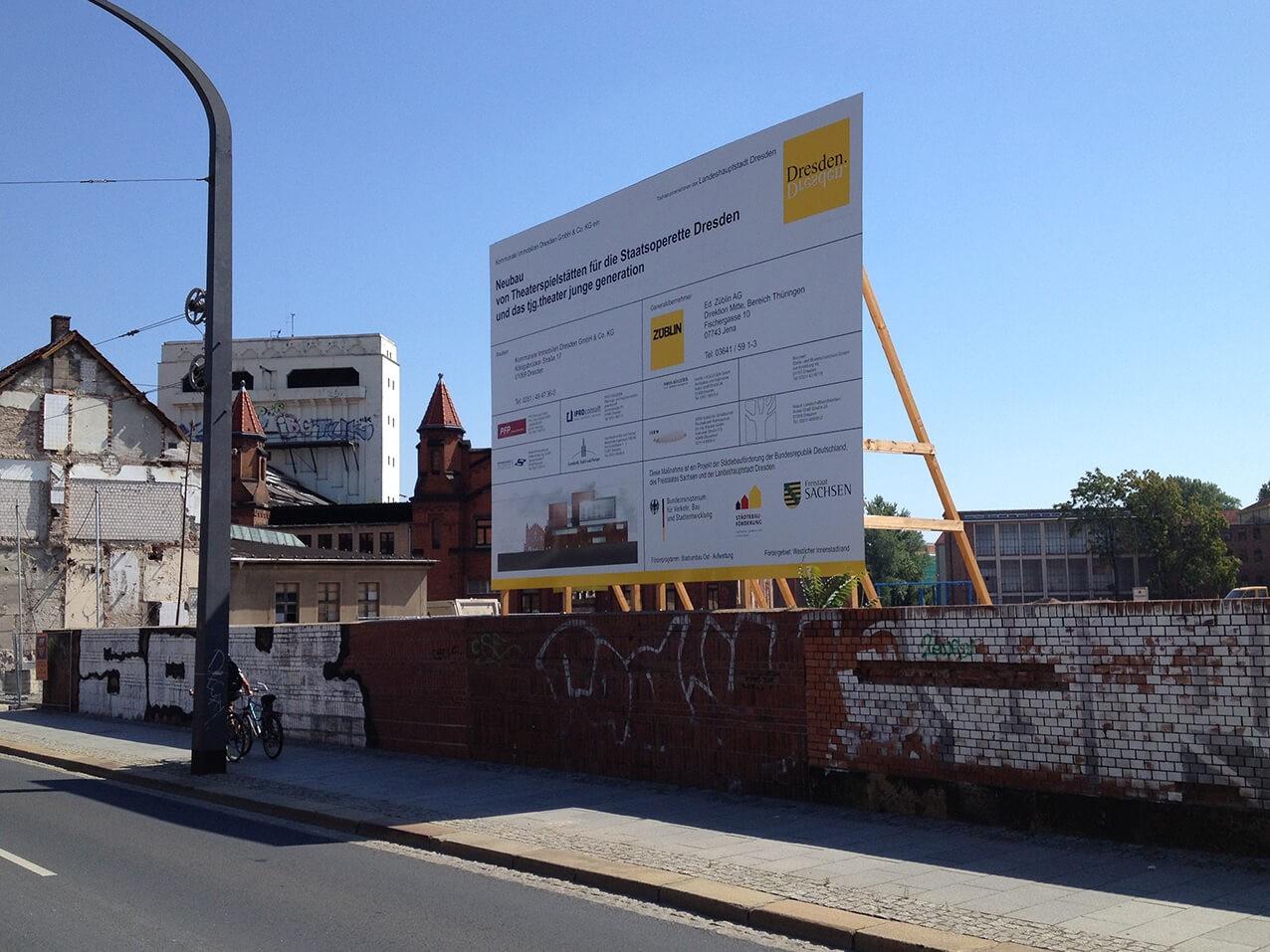 Bauschilder Aufsteller Mieten Oder Kaufen Dresden